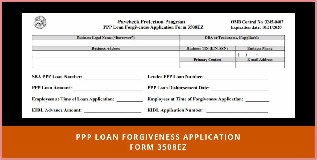 Ppp Loan Forgiveness Tax Forms