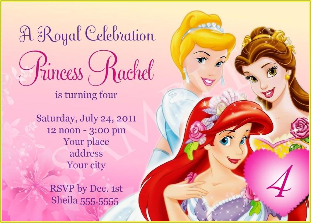 Princess Birthday Party Invitation Templates Free Download