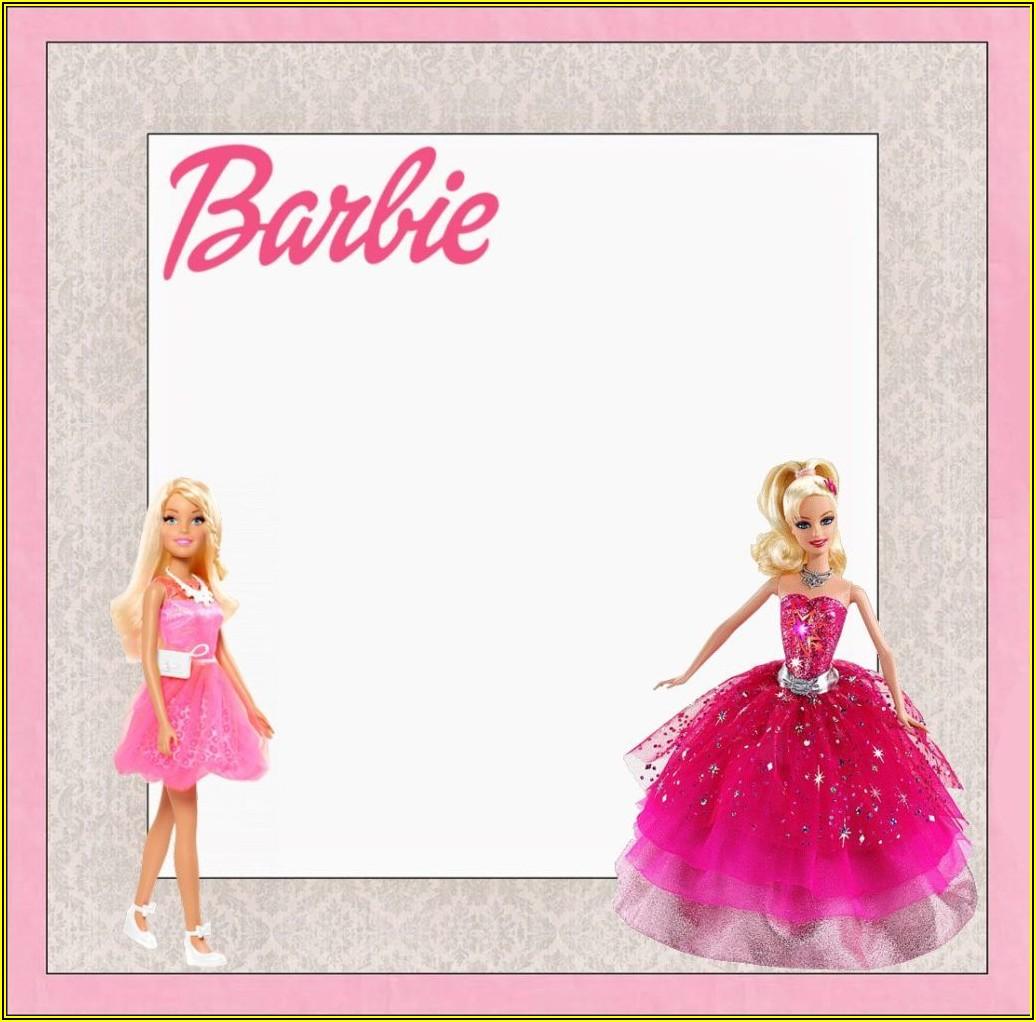 Printable Barbie Invitation Template