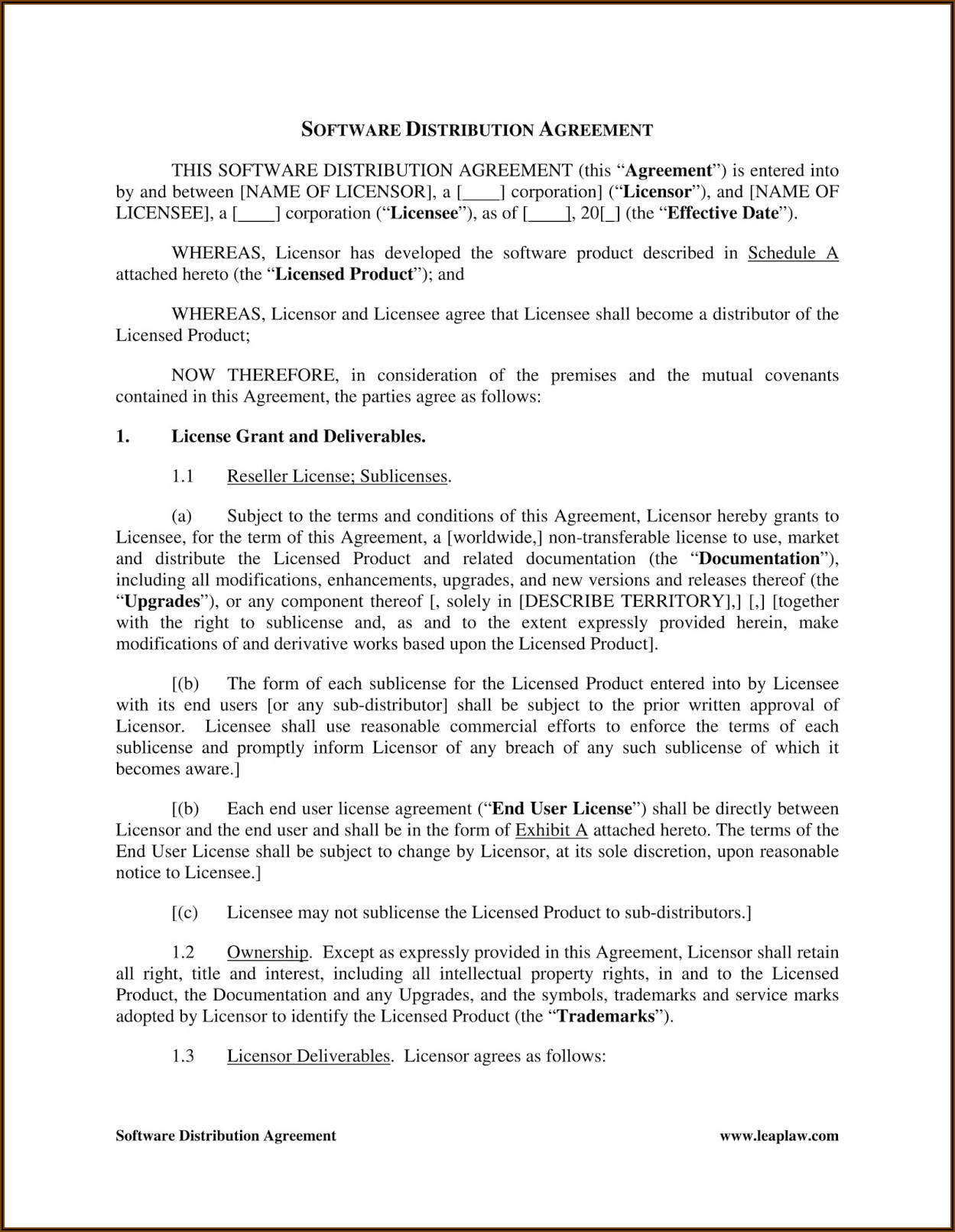 Printable Commercial Lease Agreement Template Free