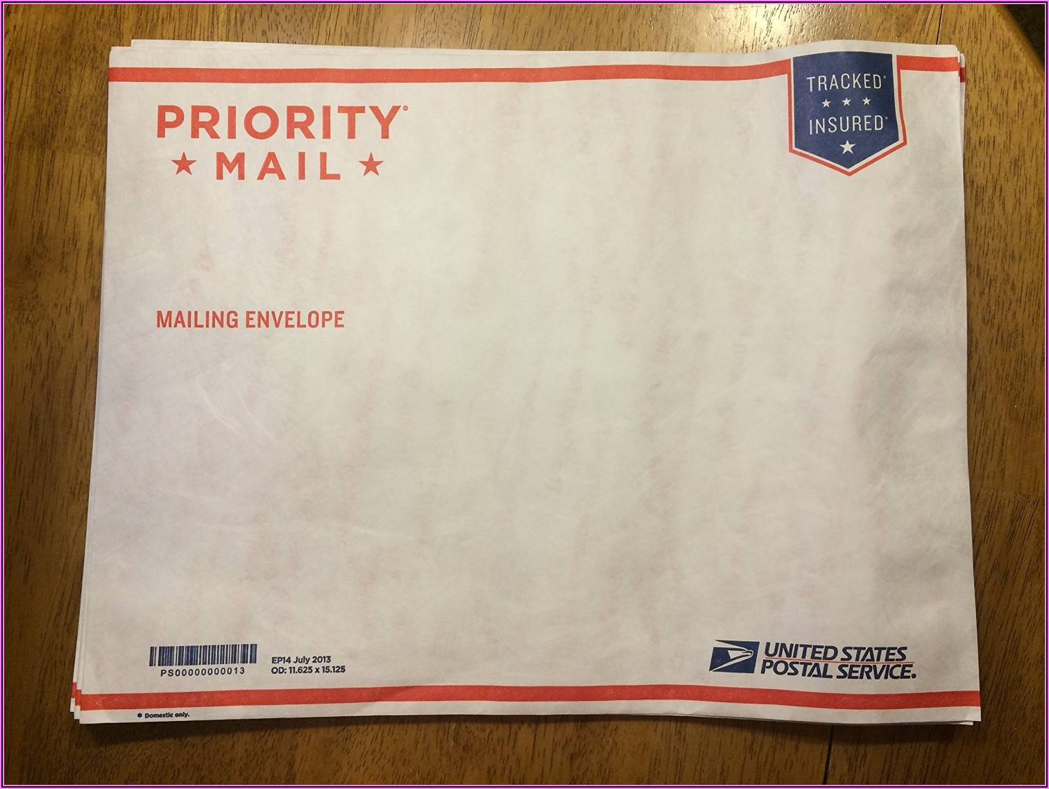 Priority Mail Padded Envelope Rate