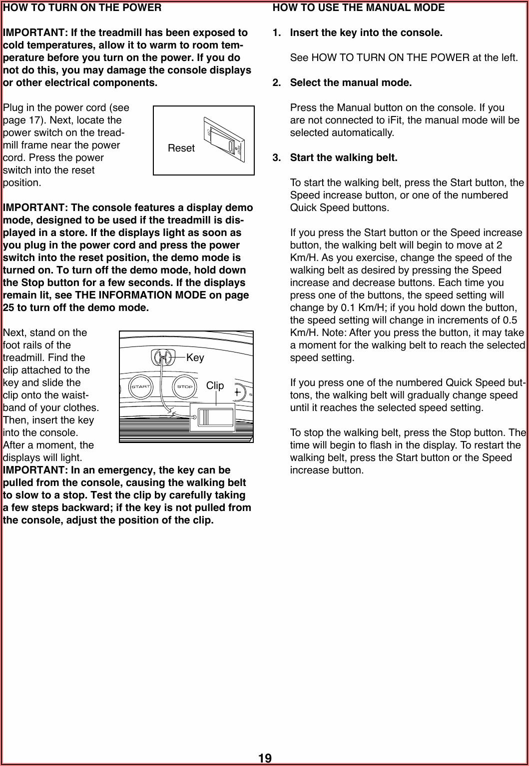 Proform Performance 1450 Treadmill Manual