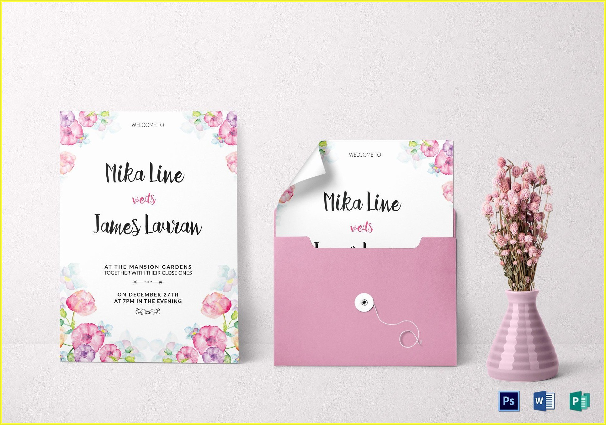 Publisher Wedding Invitation Templates