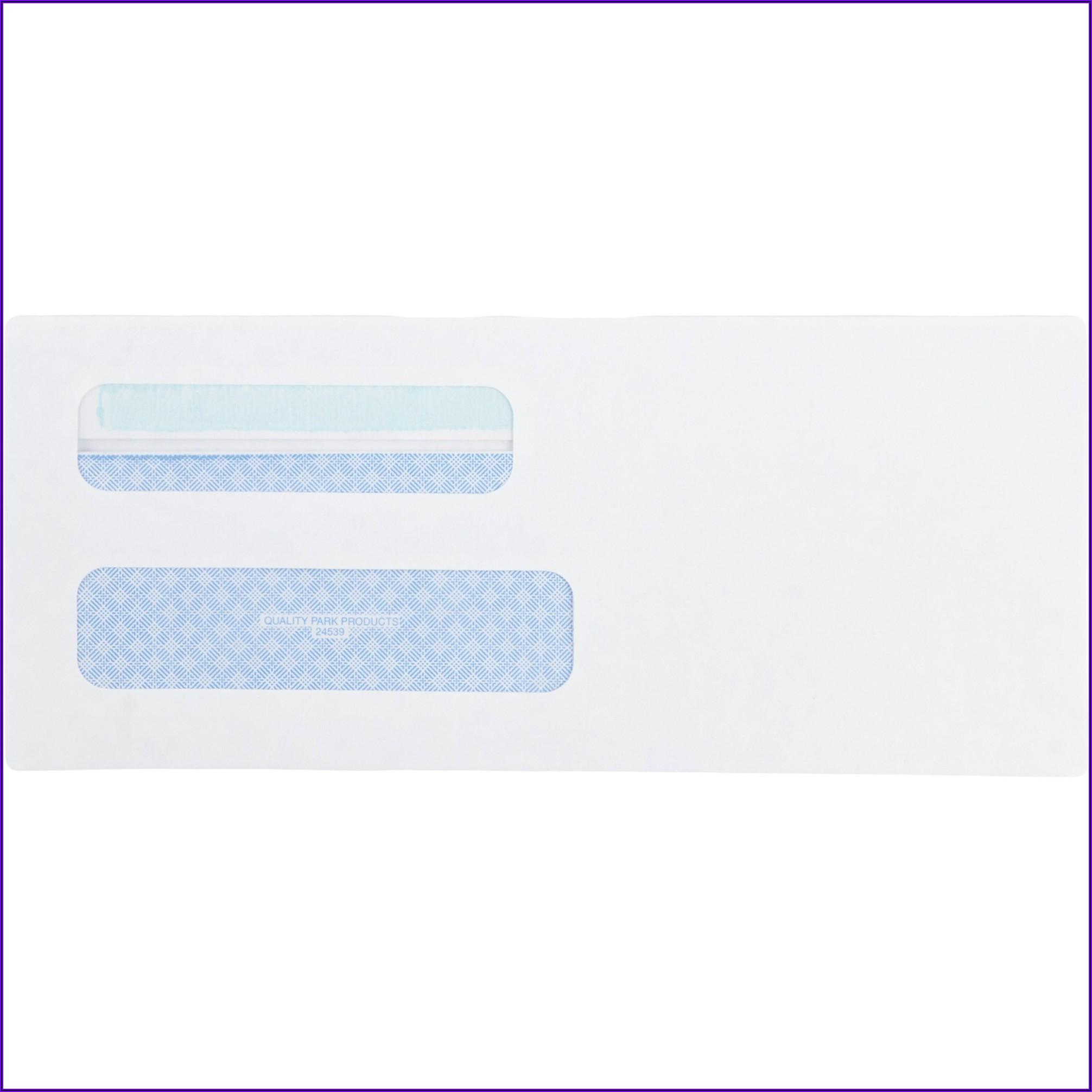 Quality Park Double Window Redi Seal Envelopes