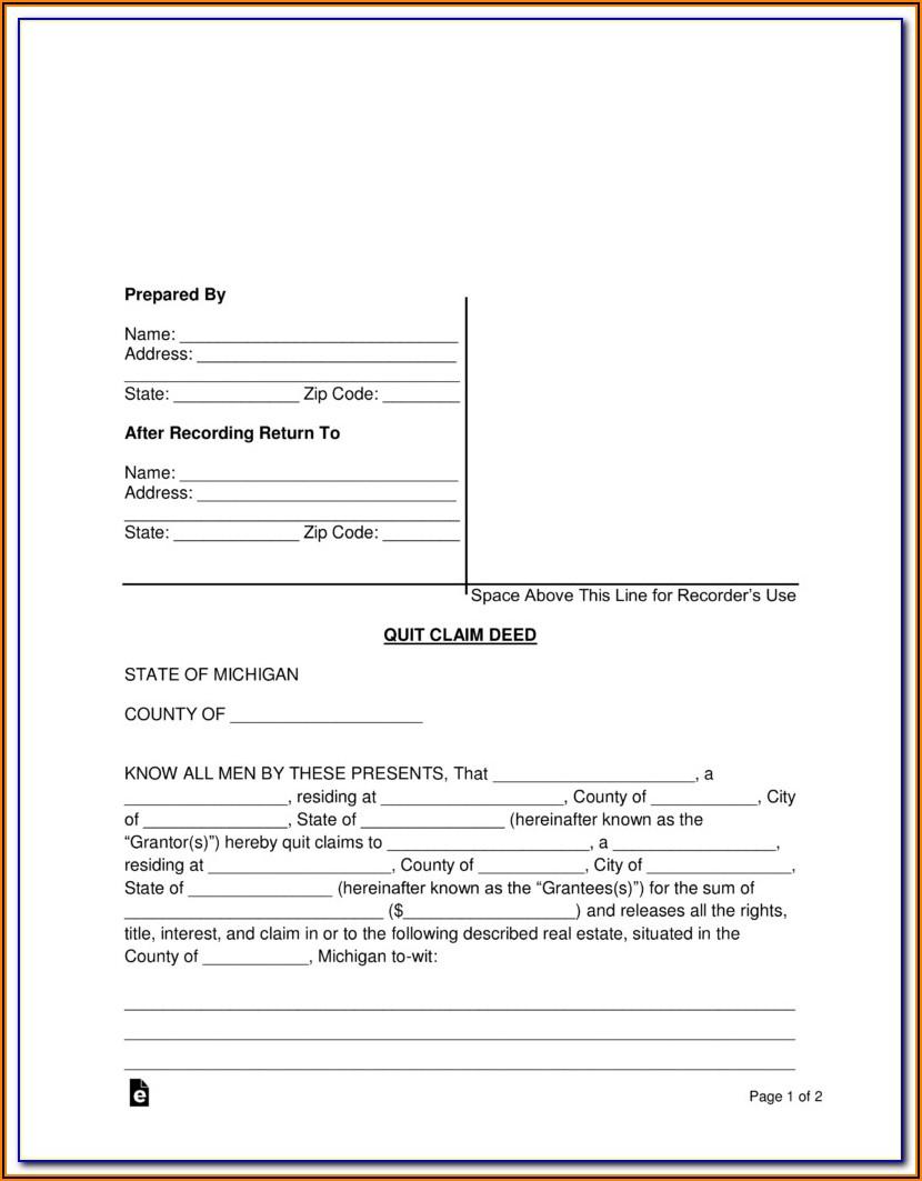 Quit Claim Deed Form Fairfax County Va