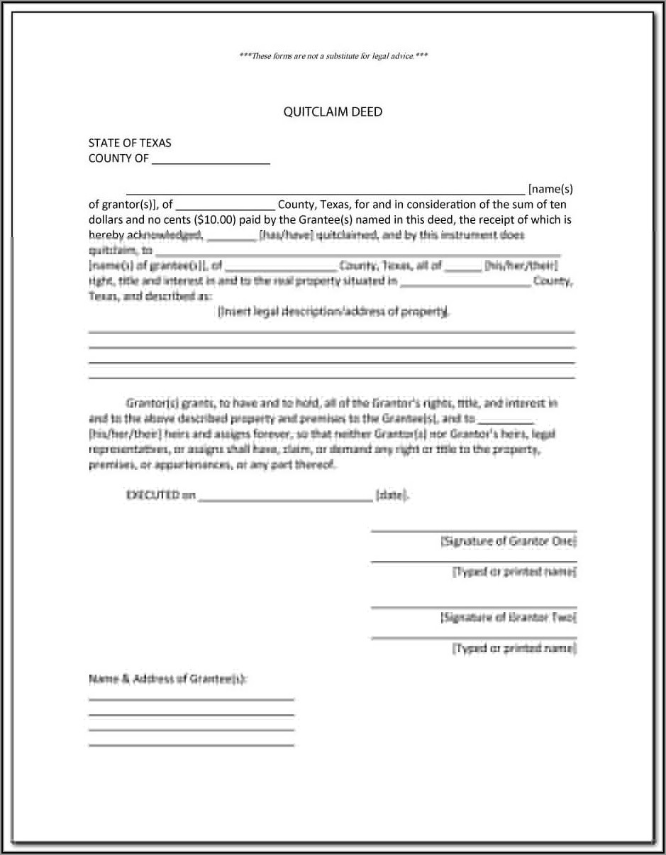 Quit Claim Deed Forms Washington State