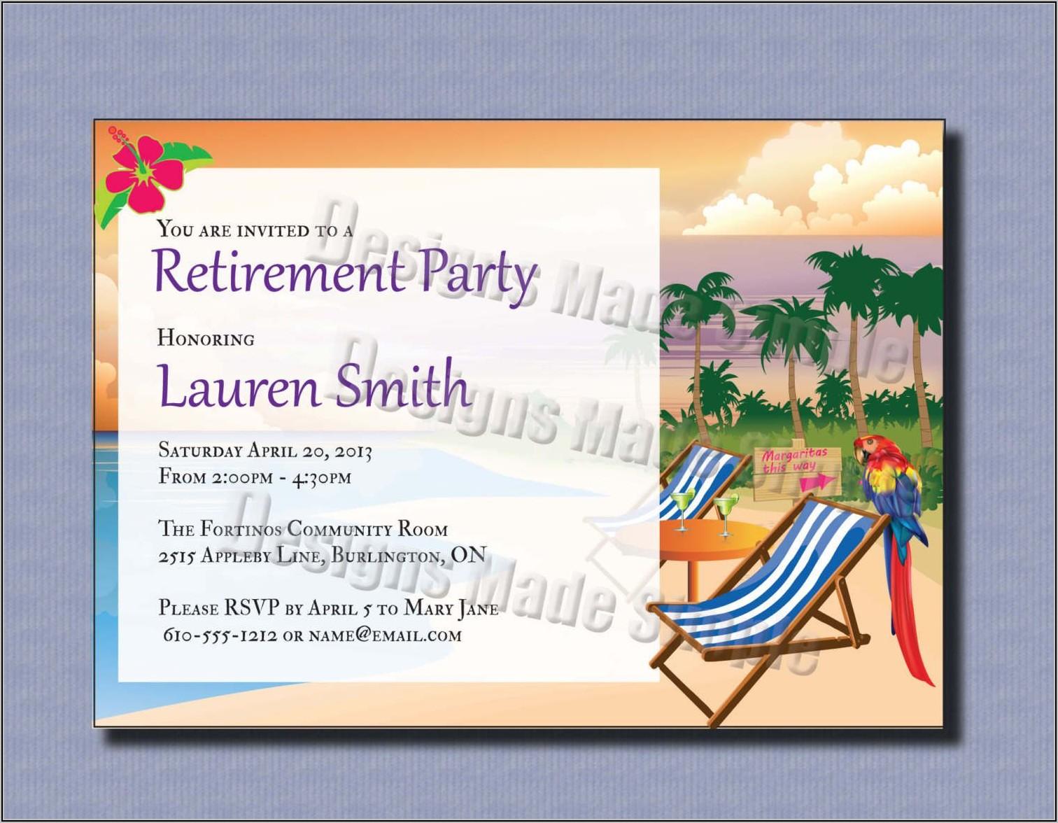 Retirement Invitations Template