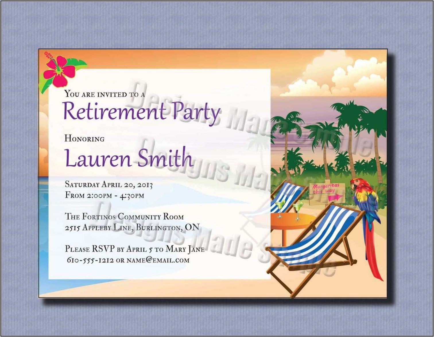 Retirement Party Invitation Photoshop Template