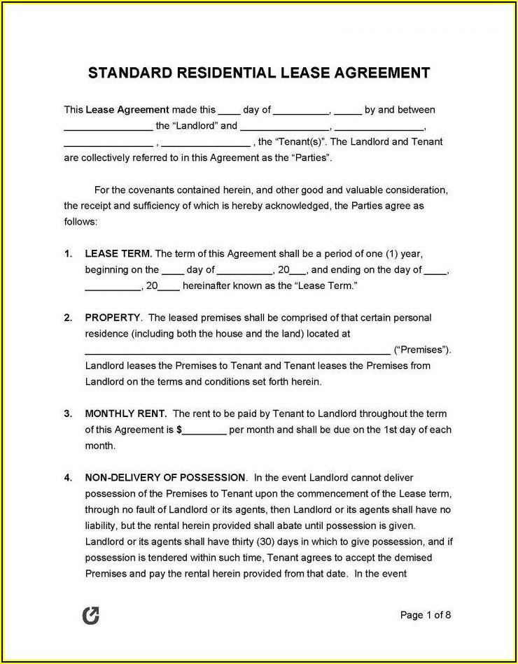 Roommate Rental Agreement Template Free
