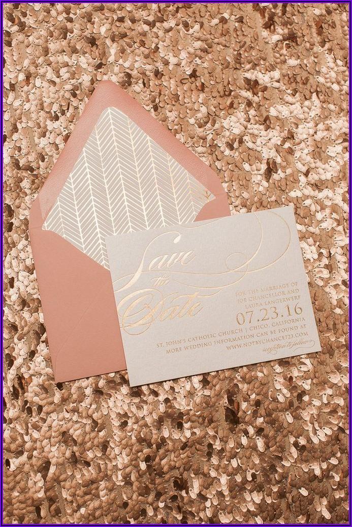 Rose Gold Foil Envelope Liners