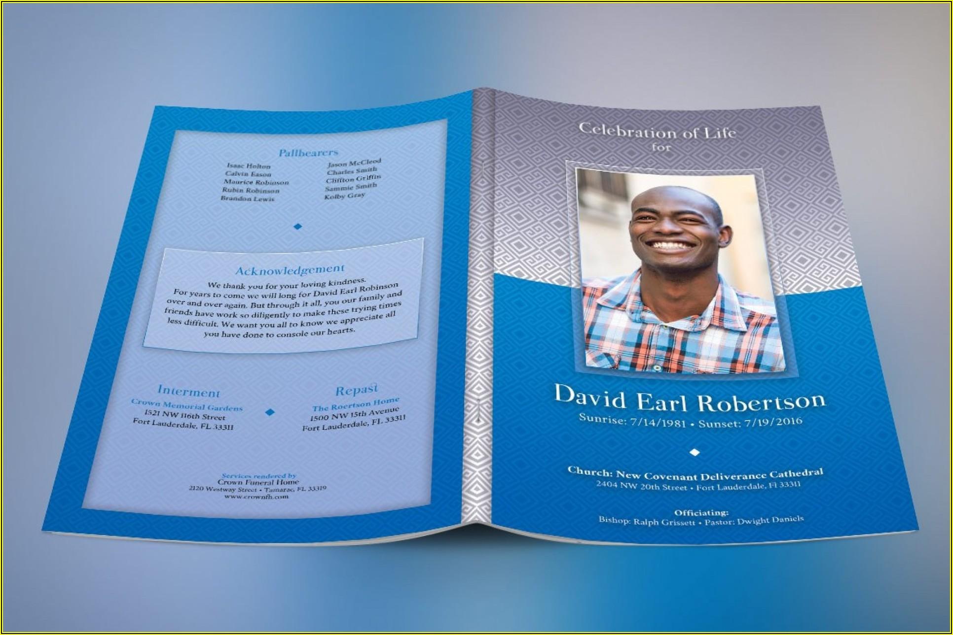 Sample Funeral Program Layout