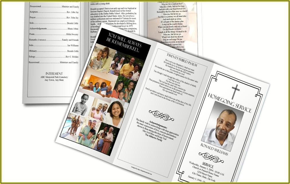 Sample Obituary Program Template