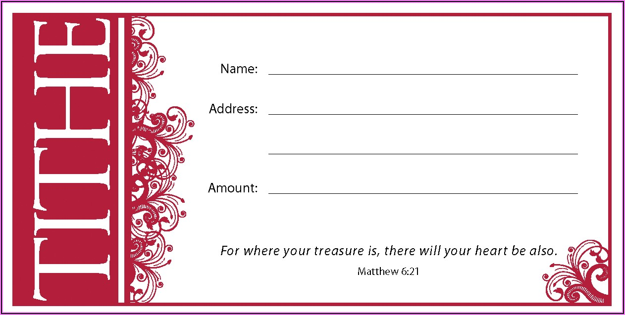 Sda Tithe And Offering Envelope