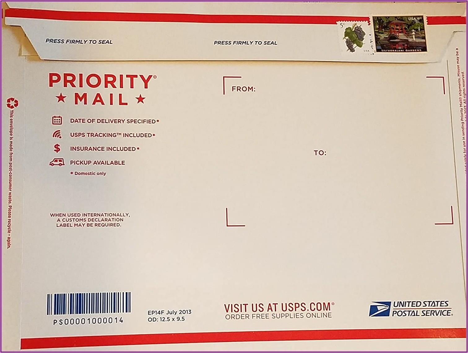 Self Addressed Prepaid Envelope International