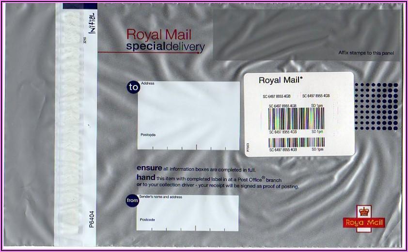 Self Addressed Prepaid Envelope Uk