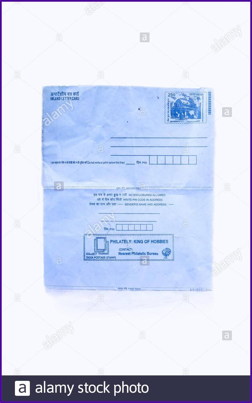 Self Addressed Stamped Envelope India