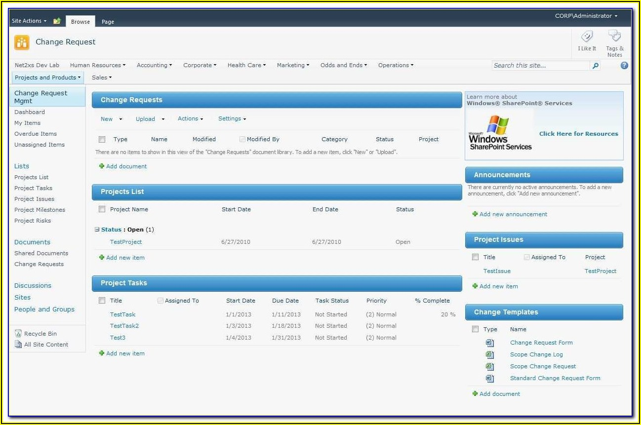 Sharepoint Crm Template Free