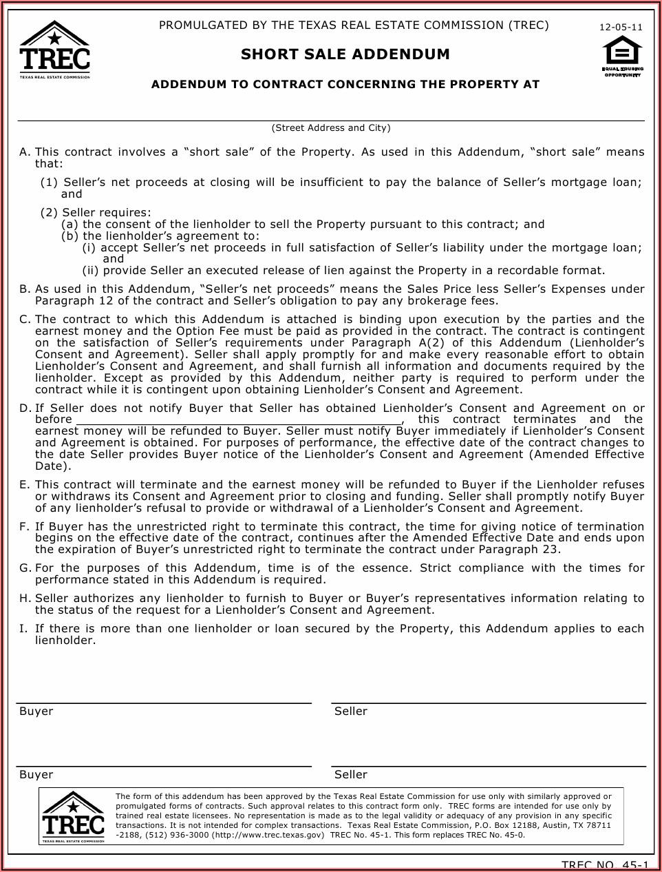 Short Sale Affidavit Form