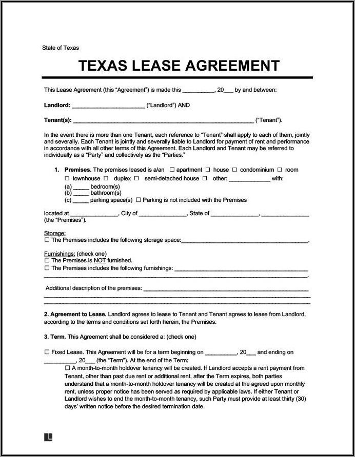 Short Term Rental Agreement Form Free