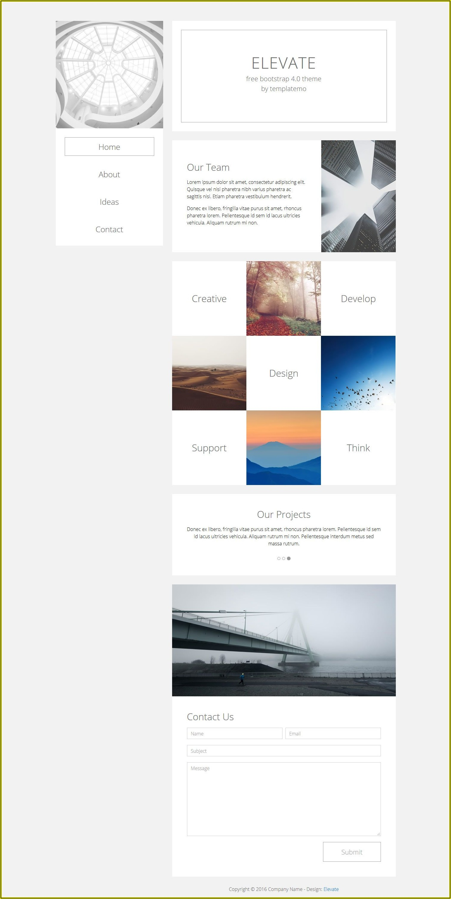 Simple Html And Css Website Template