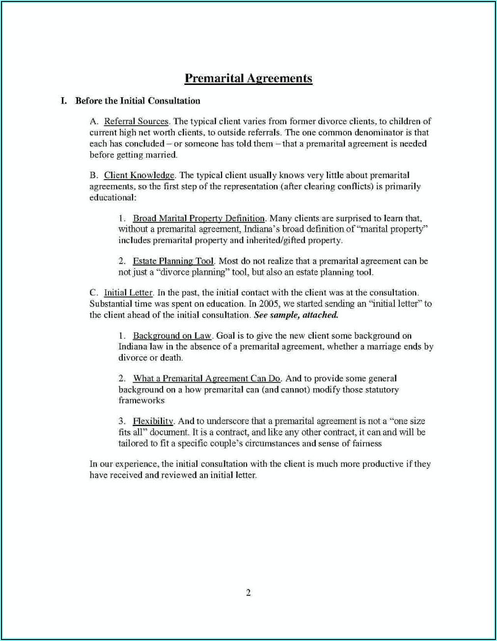 Simple Post Nuptial Agreement Template Pdf