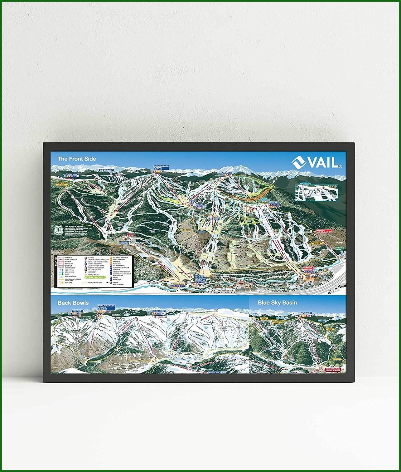 Ski Resort Map Posters