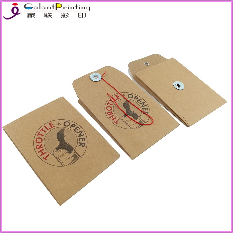 Small Button And String Envelopes