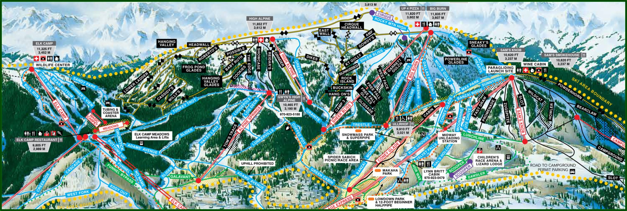 Snowmass Co Lodging Map
