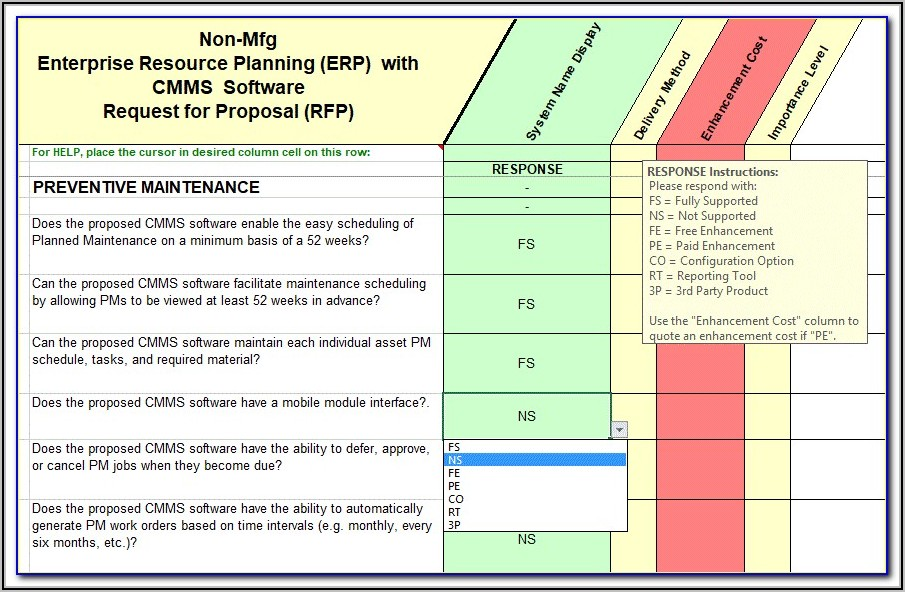 Software Rfp Template Doc