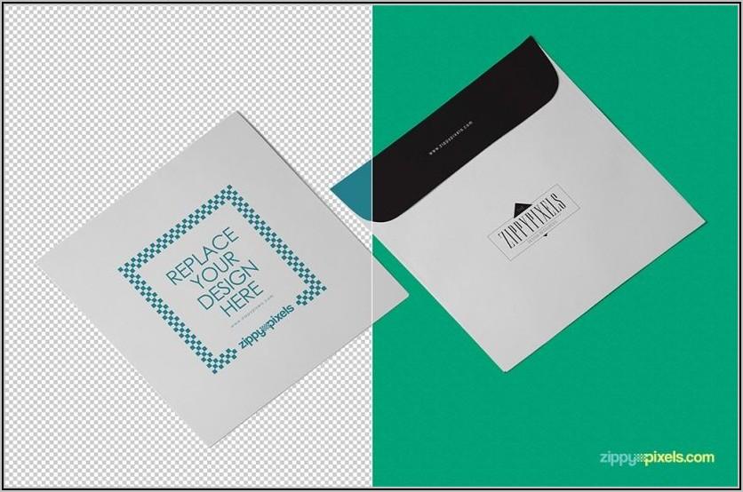 Square Envelope Mockup Free Download