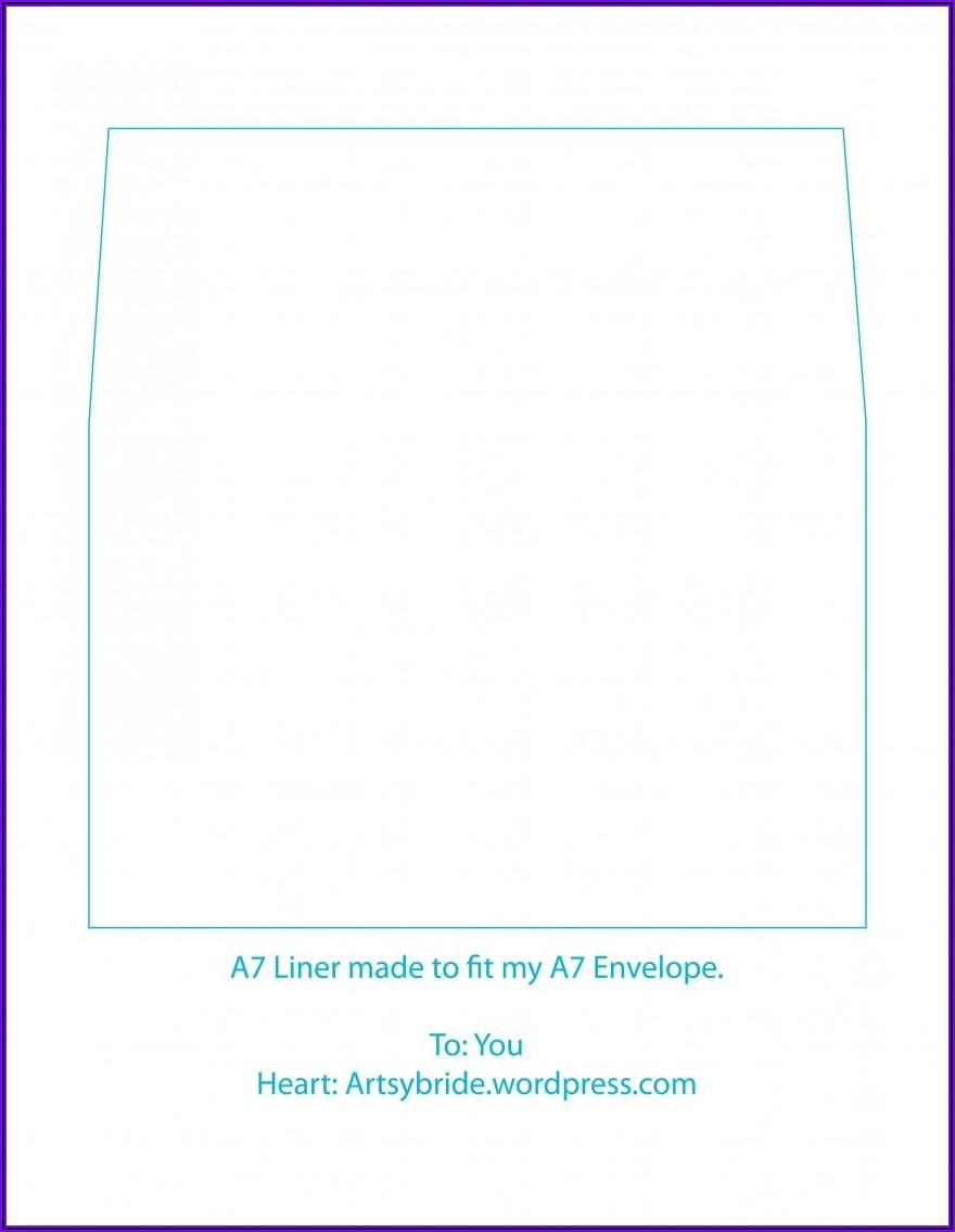 Square Flap Envelope Liner Template