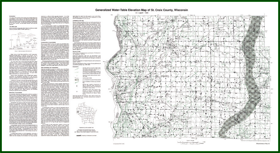St Croix County Wi Road Map