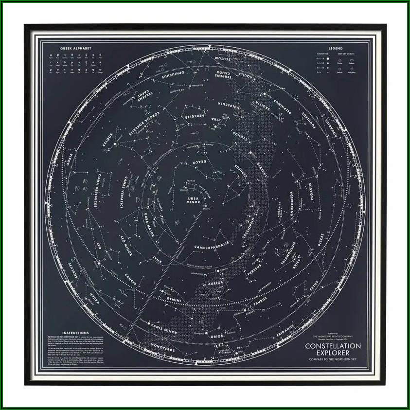 Star Constellations Map Northern Hemisphere