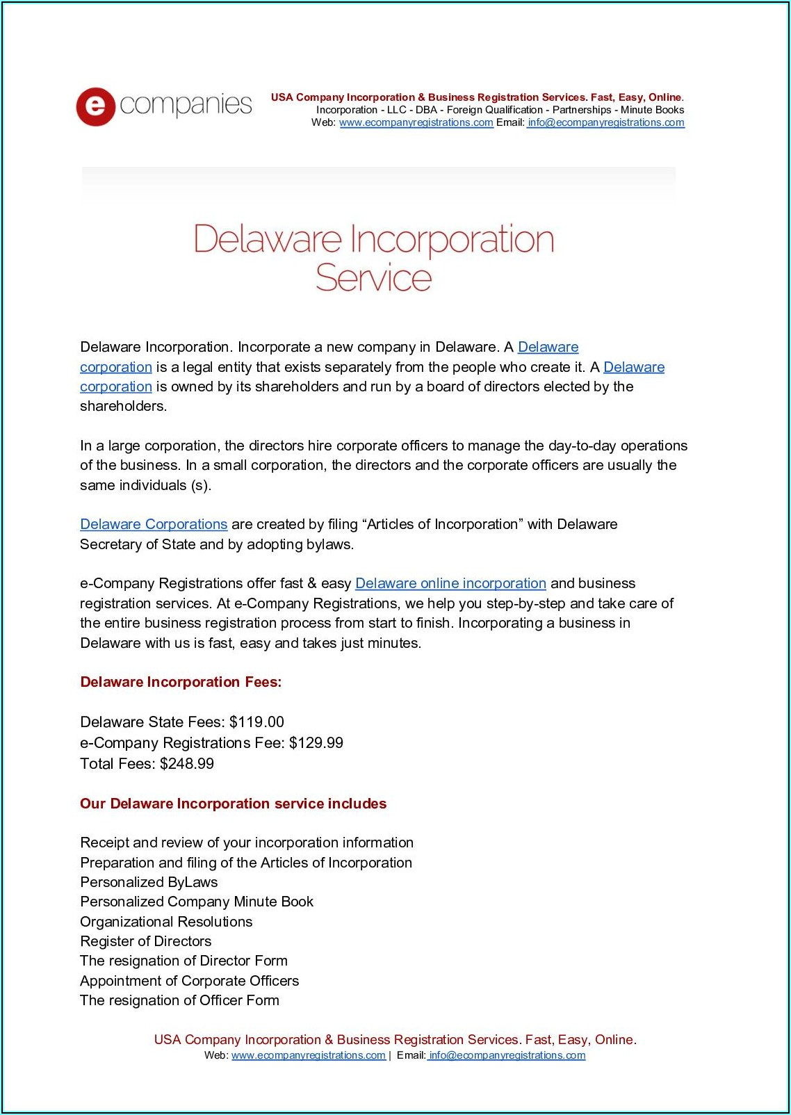 Steps For Forming A Delaware Corporation