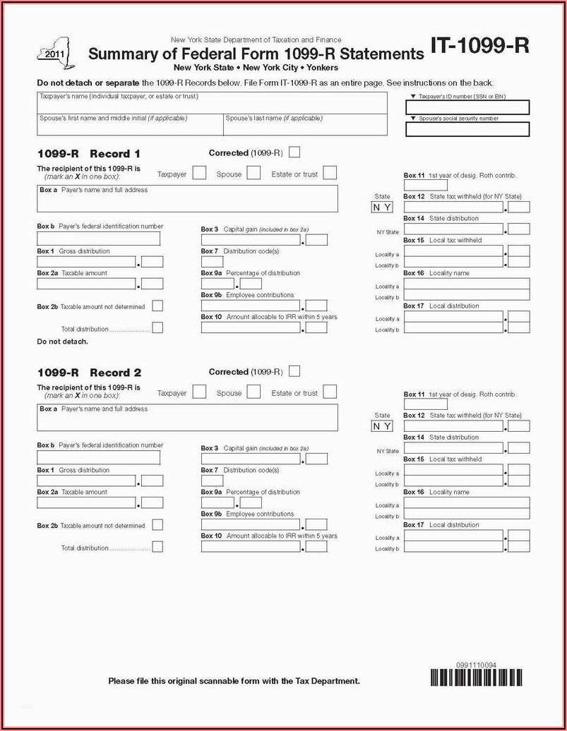 Substitute Form 1099 Misc