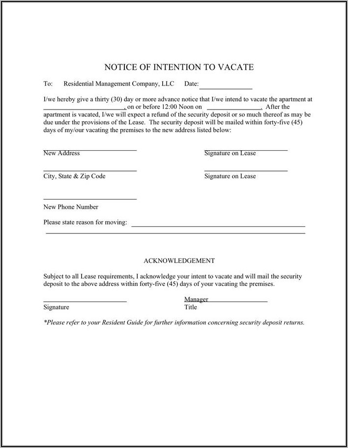 Template For Tenant Eviction Letter