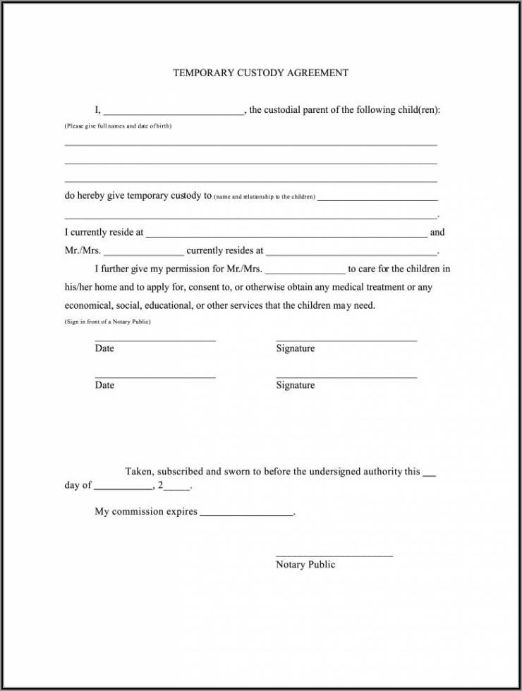 Temporary Custody Forms