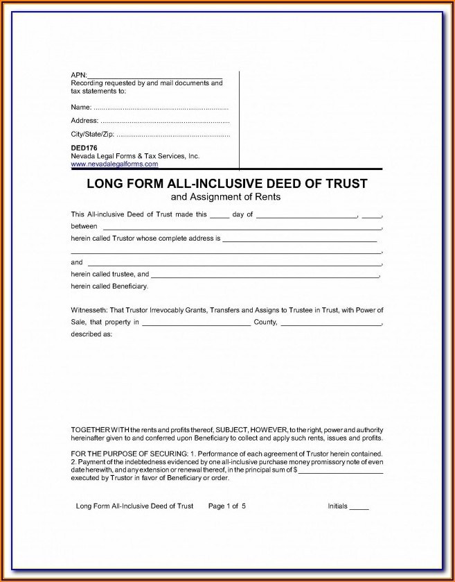 Tennessee Deed Of Trust Form