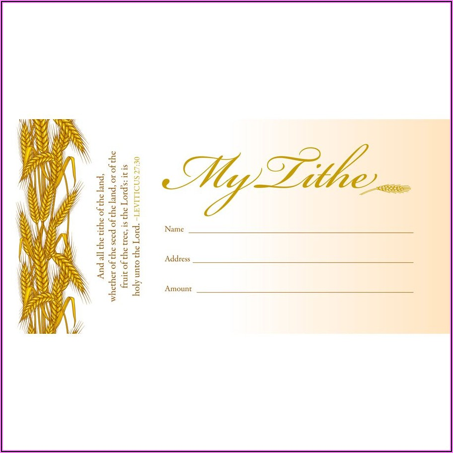 Tithe And Offering Envelopes 100