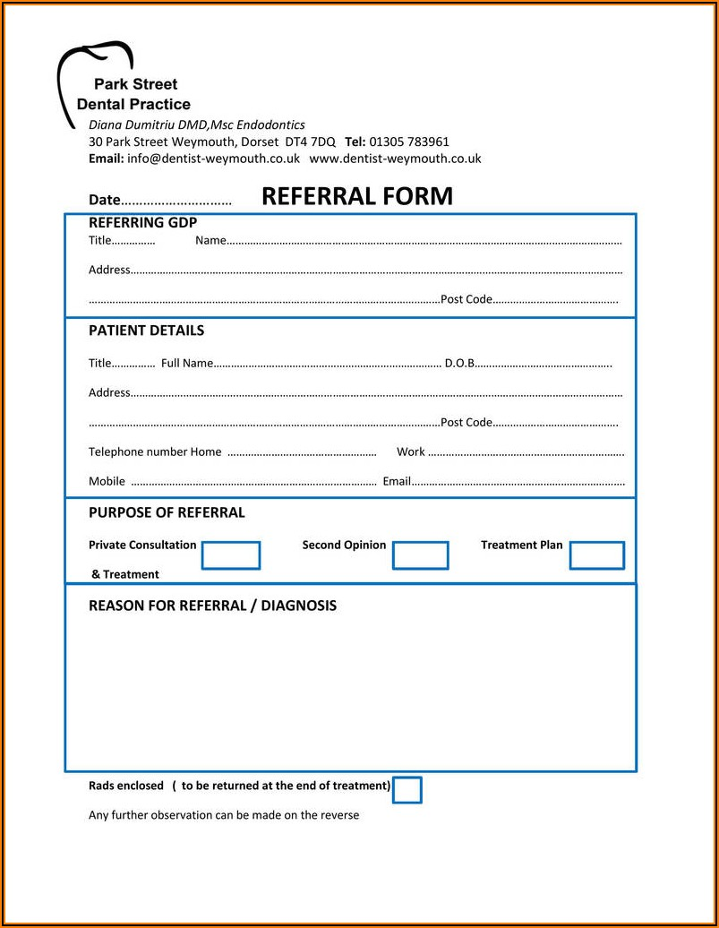 Tooth Extraction Consent Form Uk