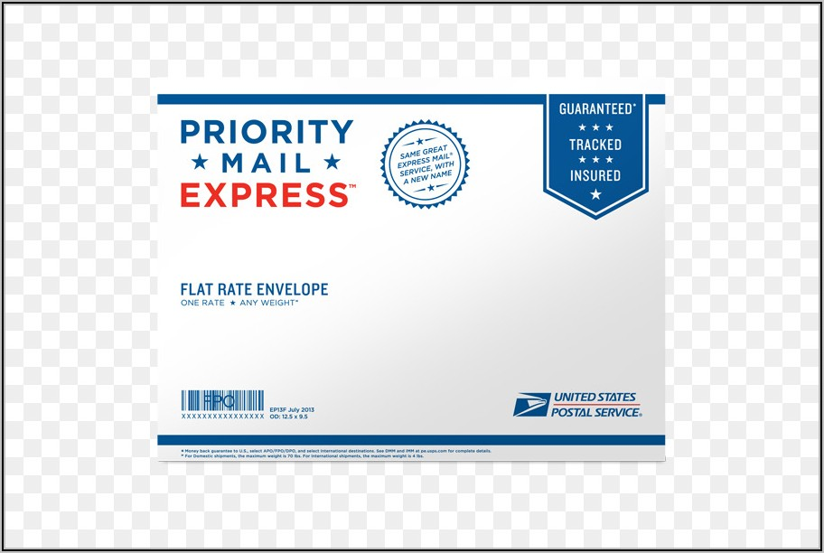 Usps Express Mail Flat Rate Envelope Postage