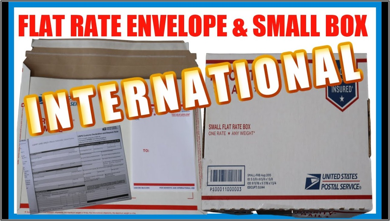 Usps Flat Rate Envelopes International