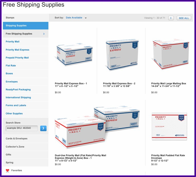 Usps Free Shipping Envelopes