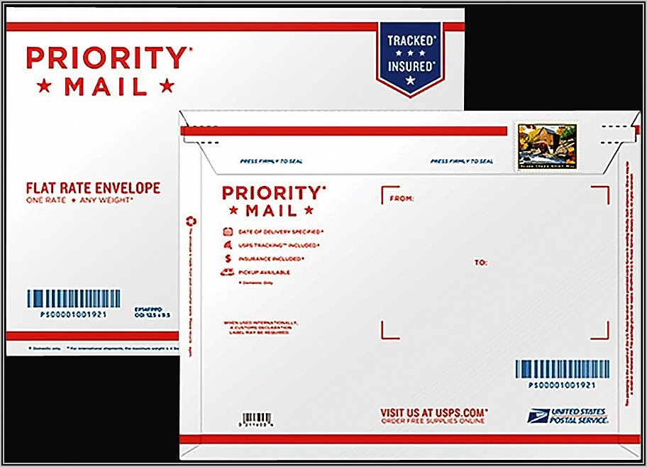 Usps Priority Mail Flat Rate Envelope Stamps