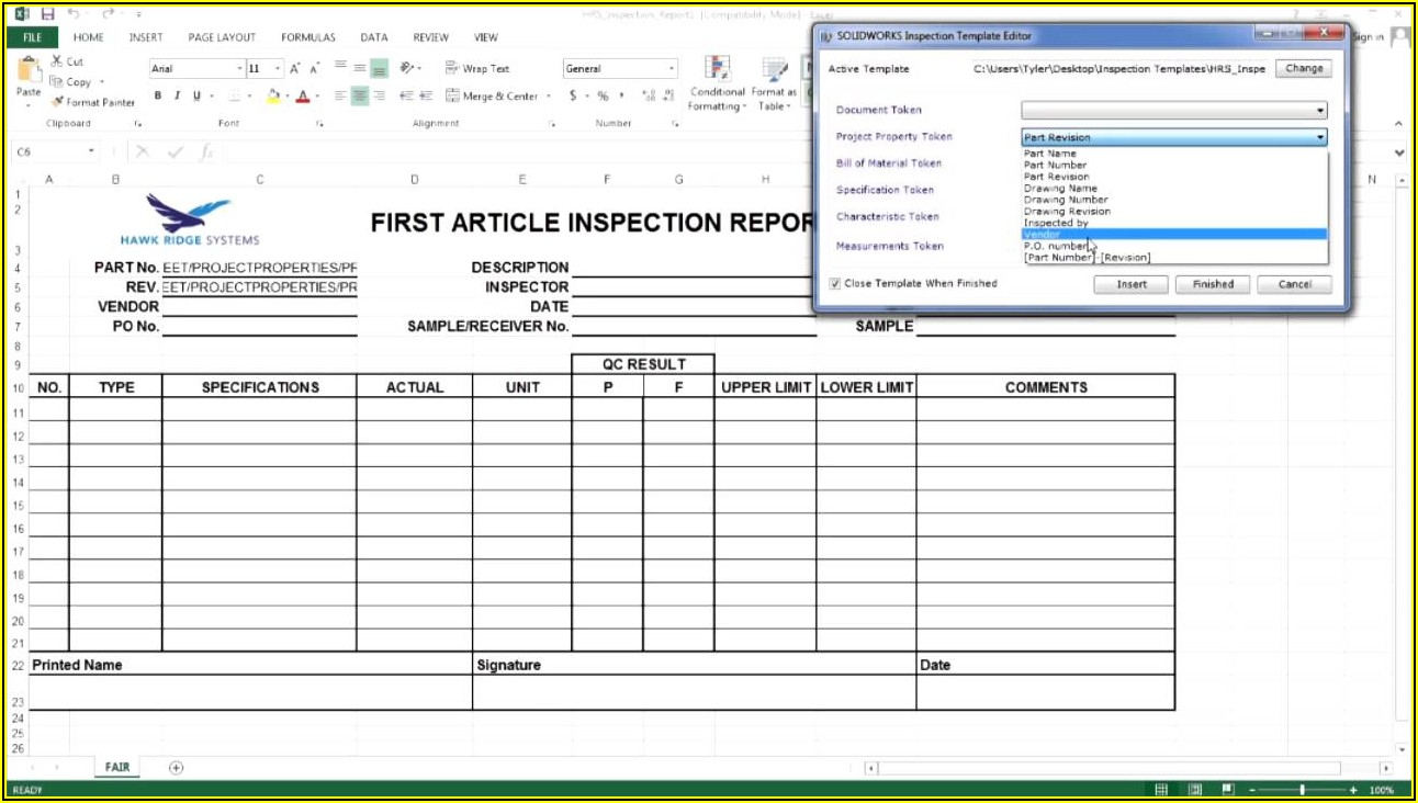 Vehicle Inspection Report Format In Excel