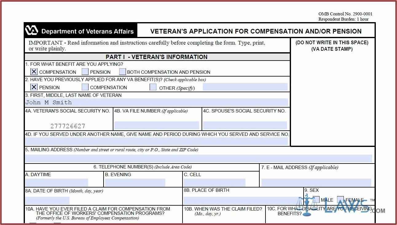 Veteran Disability Claim Forms