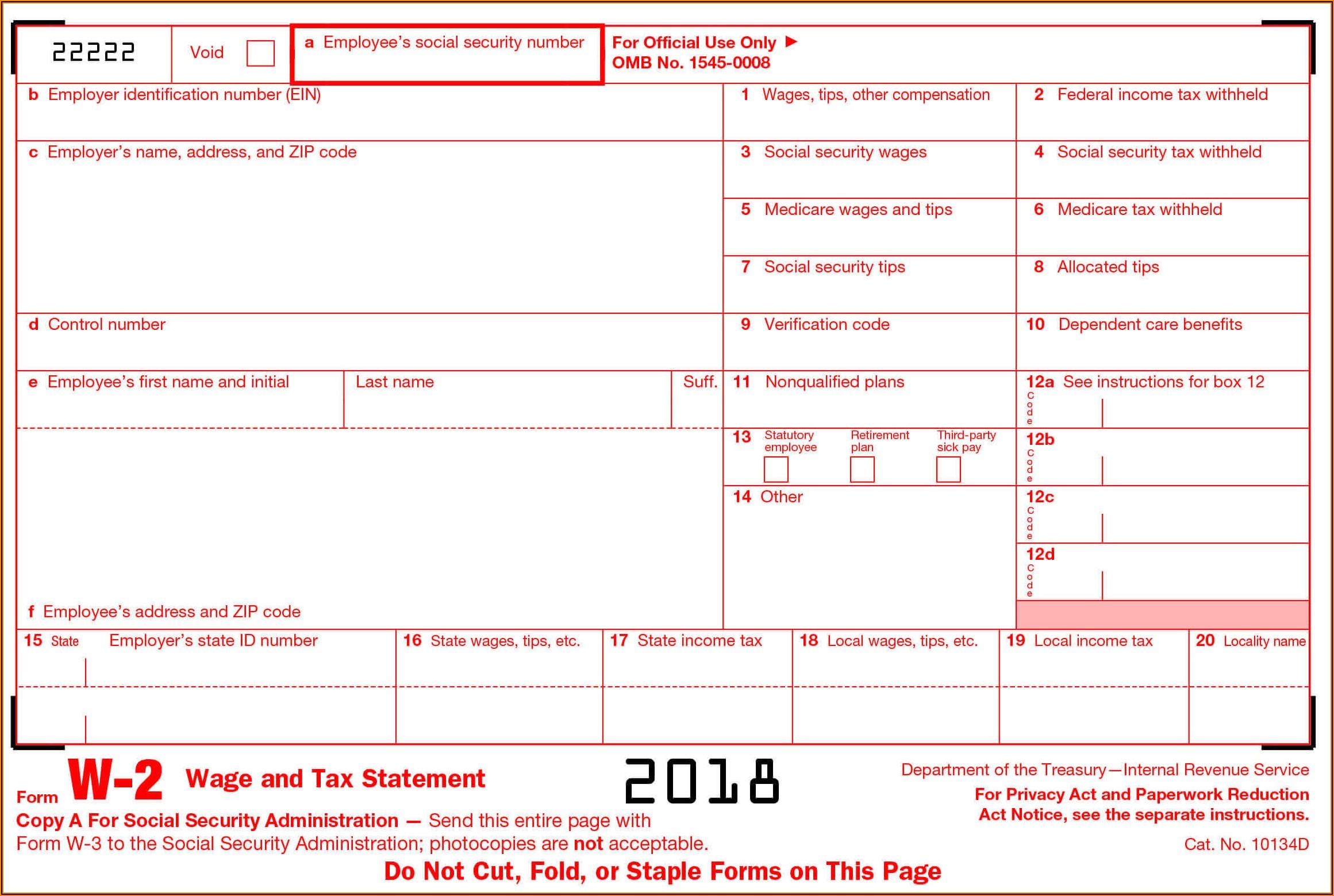 W2 Tax Form Generator