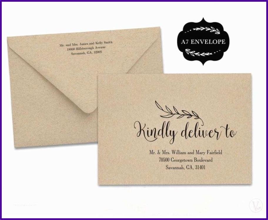 Wedding Invitation Outer And Inner Envelope