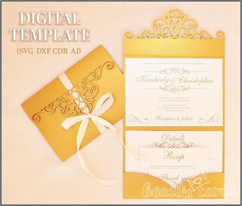 Wedding Invitation Pocket Envelope Templates