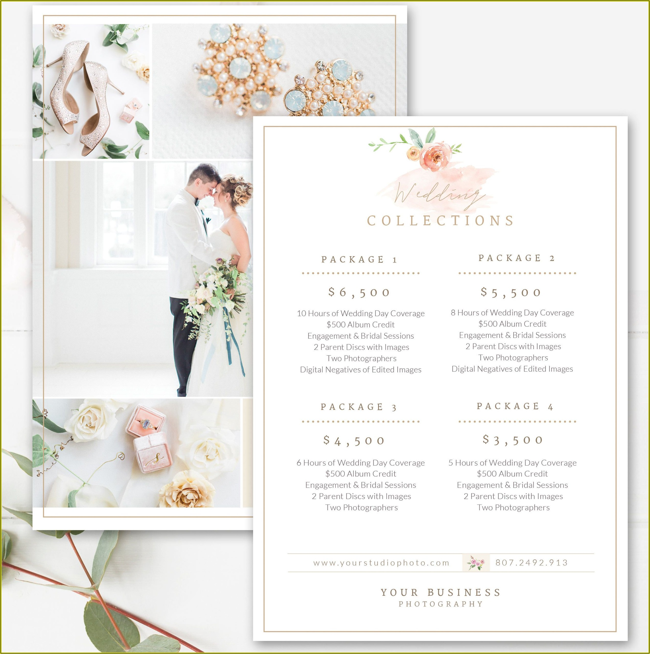 Wedding Photography Price Sheet Template